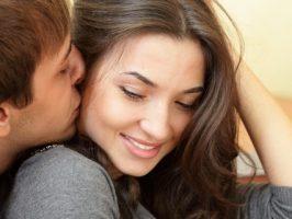 Texting Couple Kiss